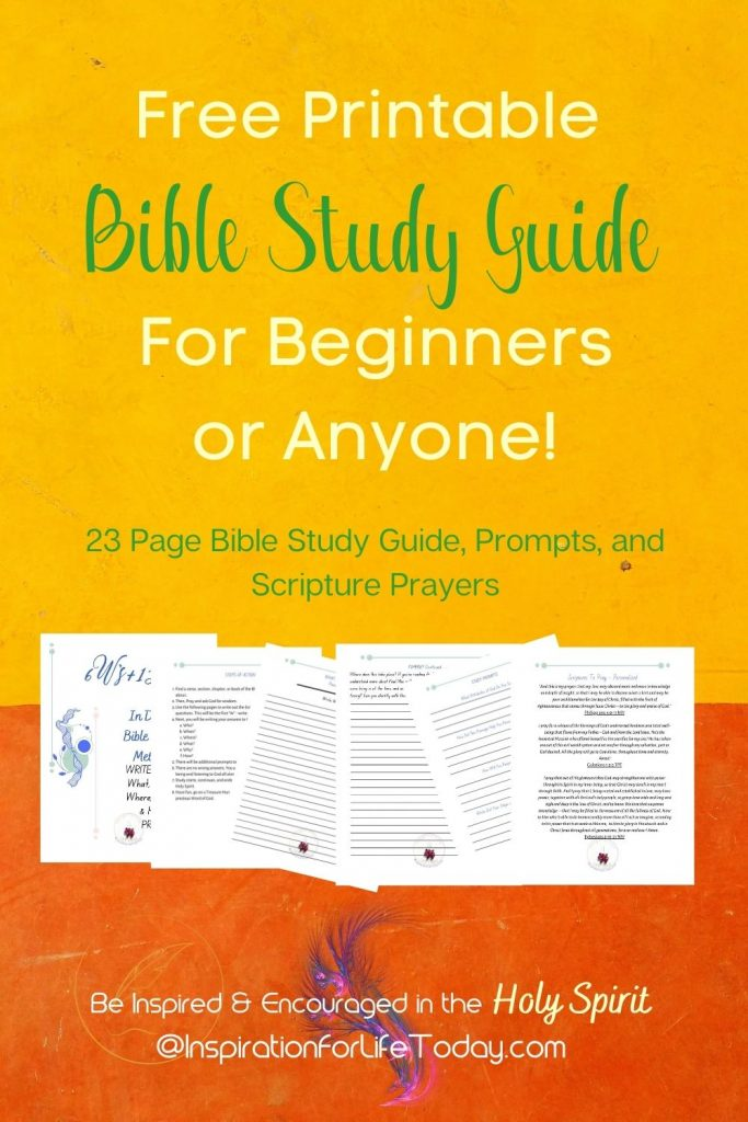 Free Printable Bible Study Guide For Beginners